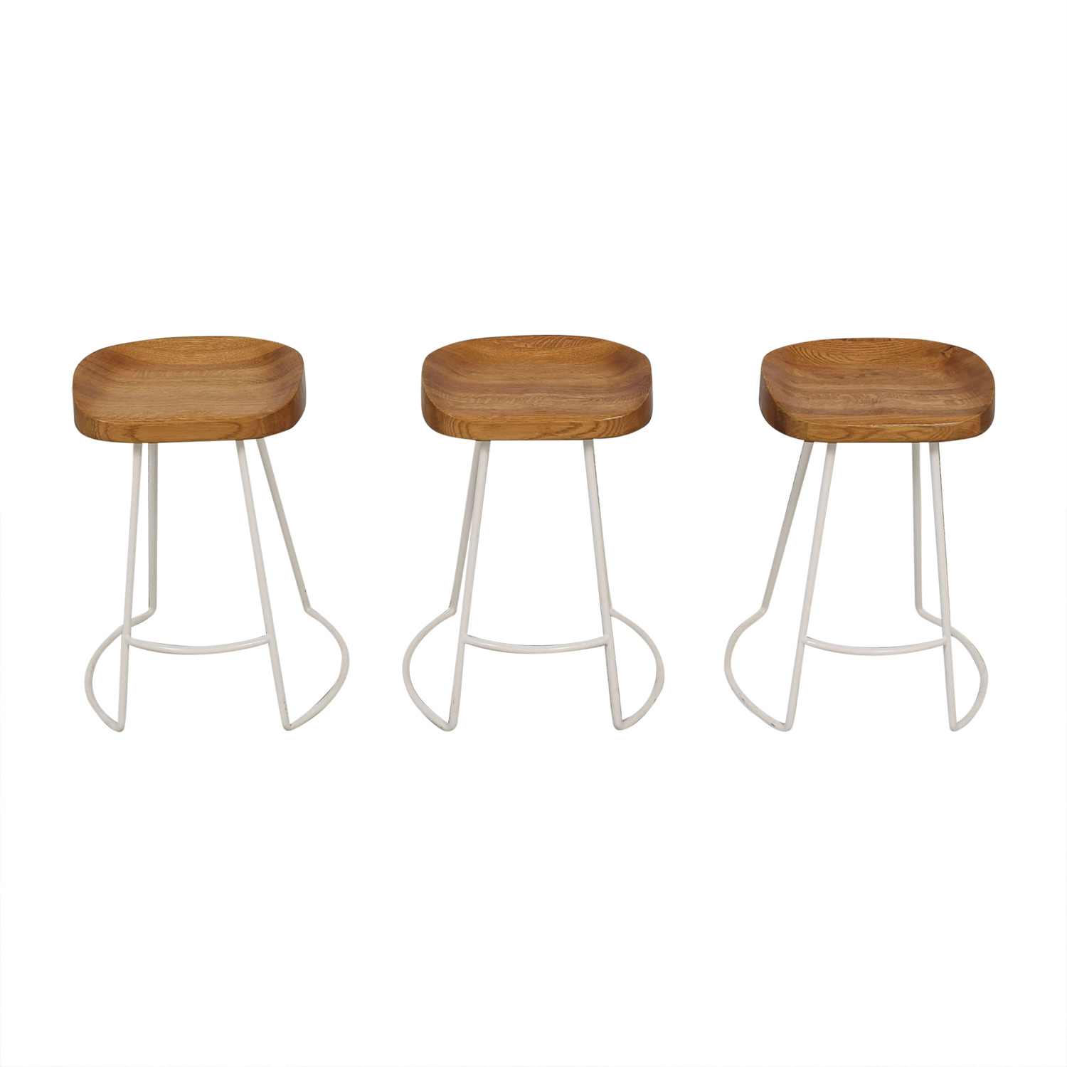 Wisteria Wisteria Natural Smart and Sleek Counter Stools pa