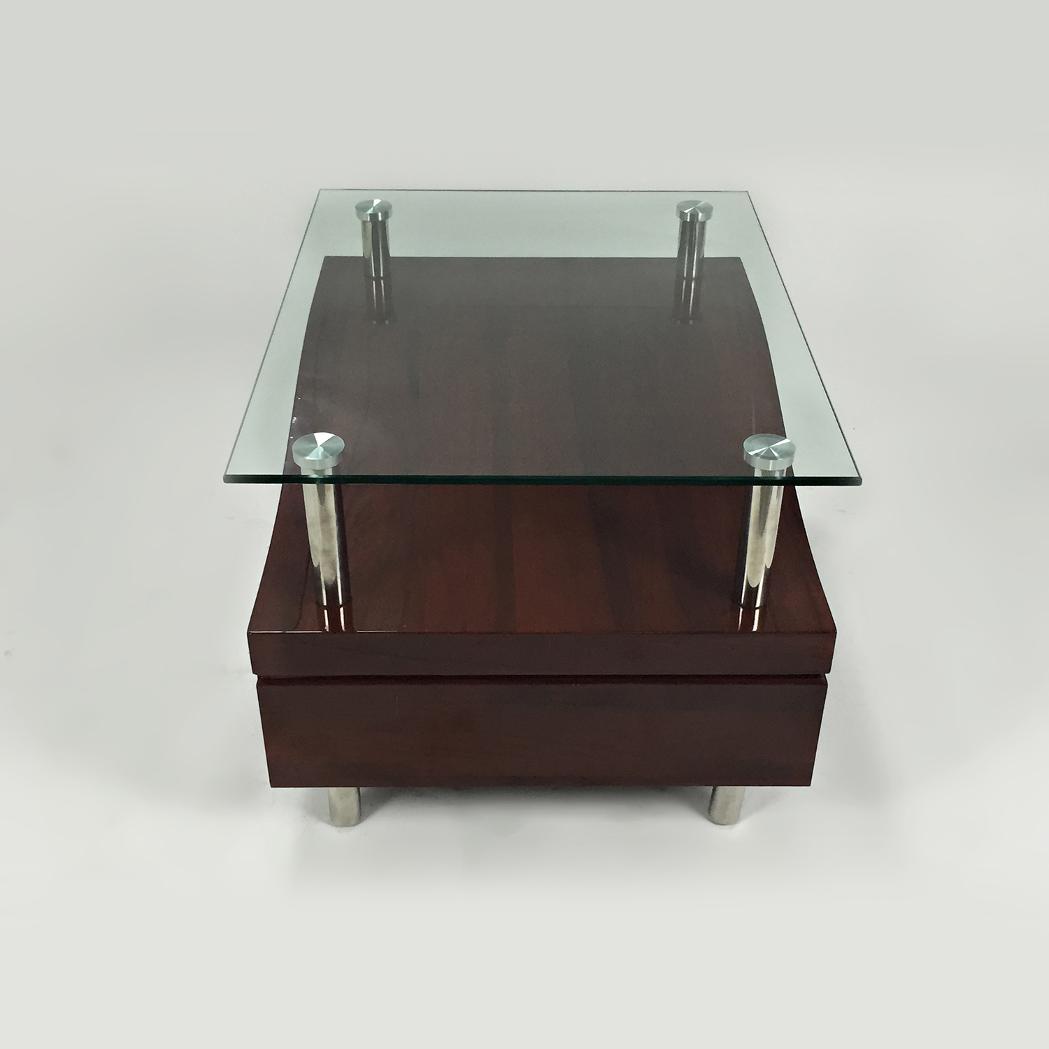 Unknown Brand Glass Top Night Stand used