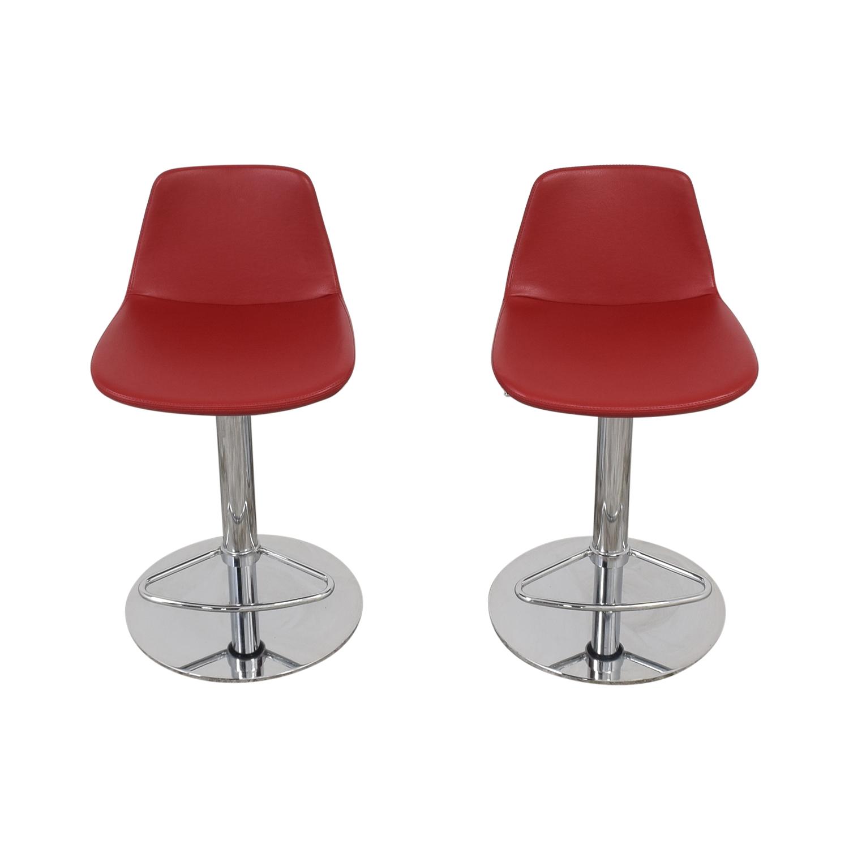 buy Lazzoni Lazzoni Red Leather Bar Stools online