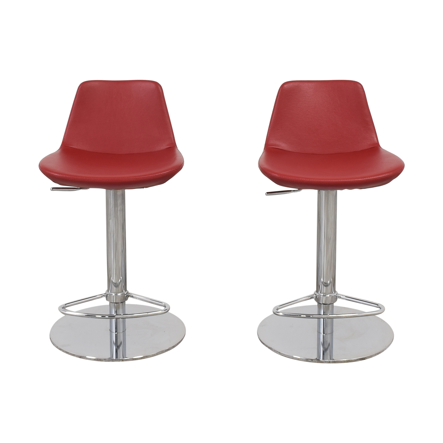 buy Lazzoni Red Leather Bar Stools Lazzoni Chairs