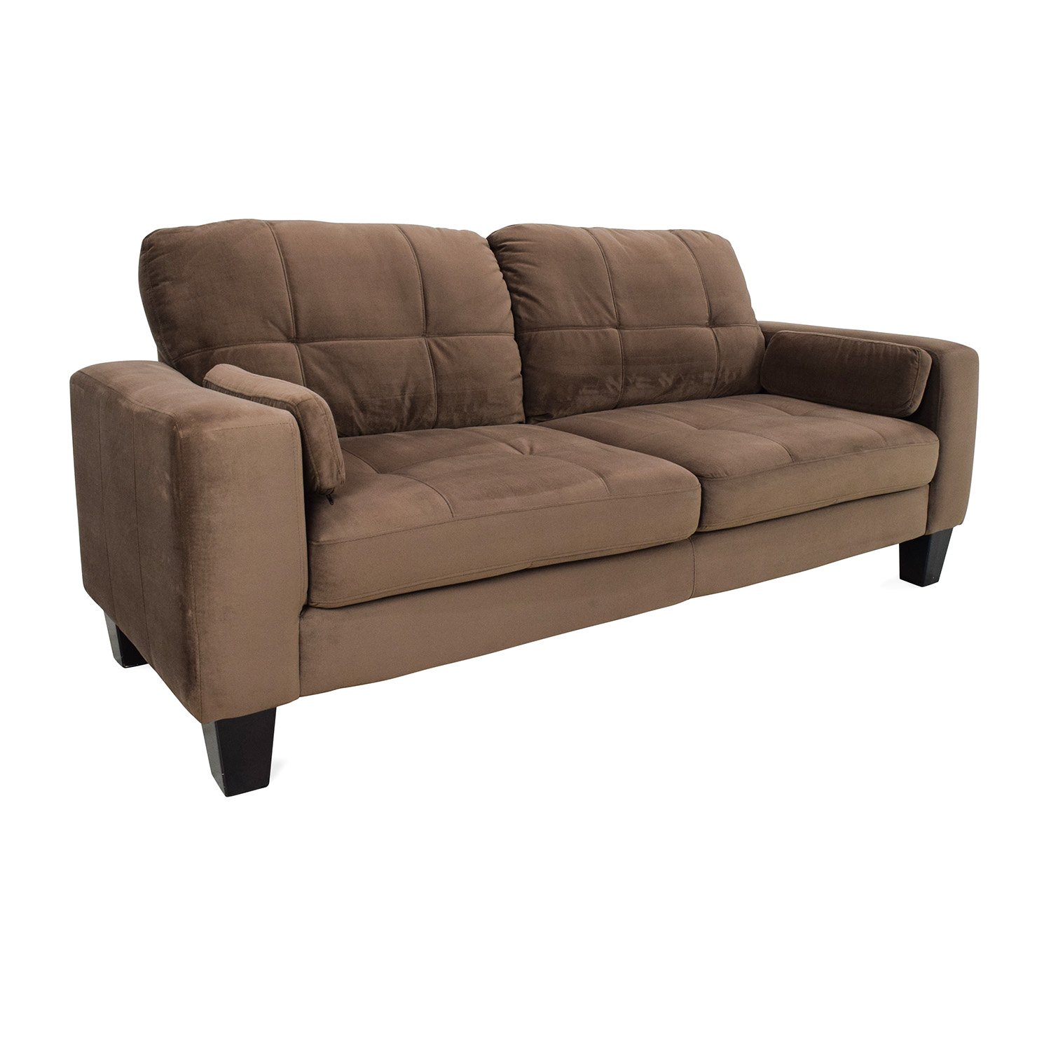 Jennifer convertibles sofa 48 off star furniture brown for Sectional sofa jennifer convertible