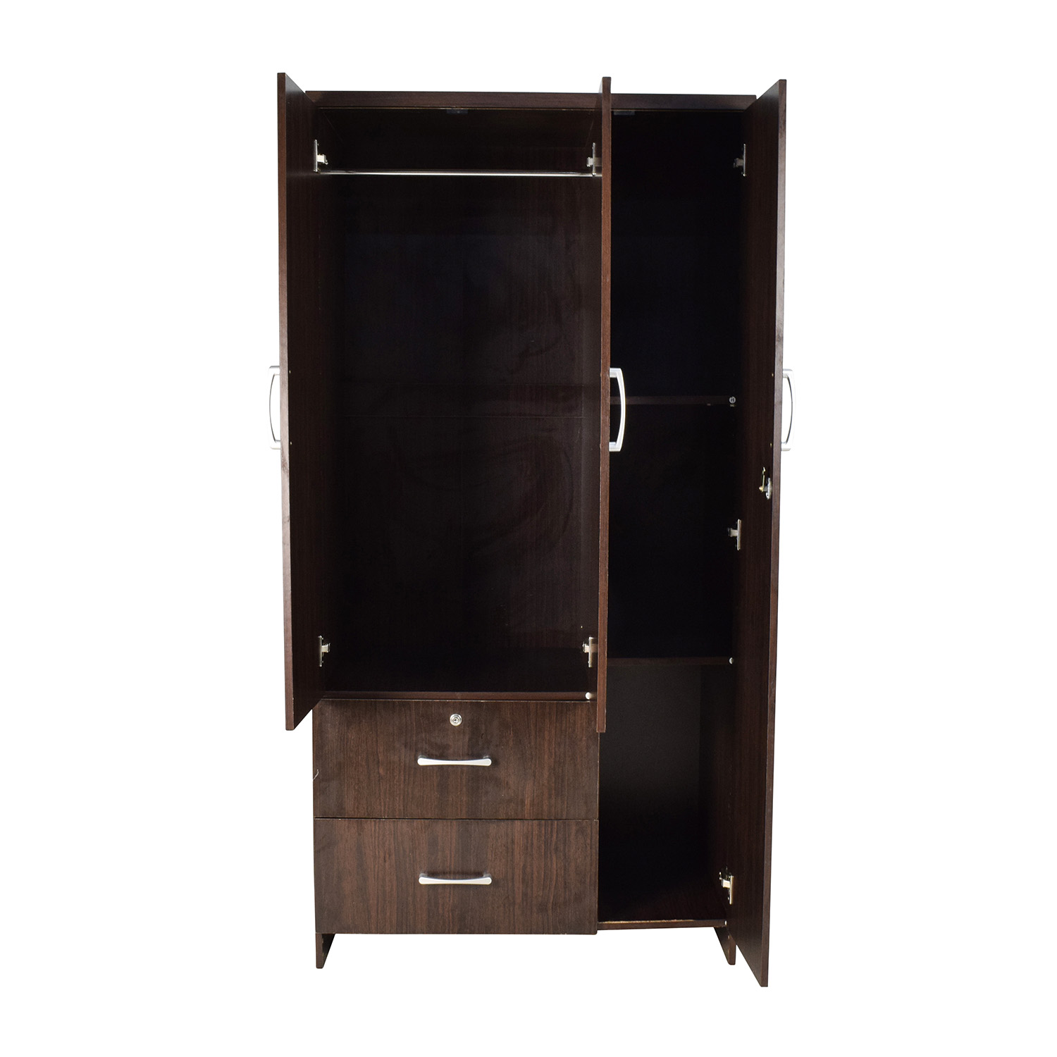 buy Tall Dark Wardrobe  Wardrobes & Armoires