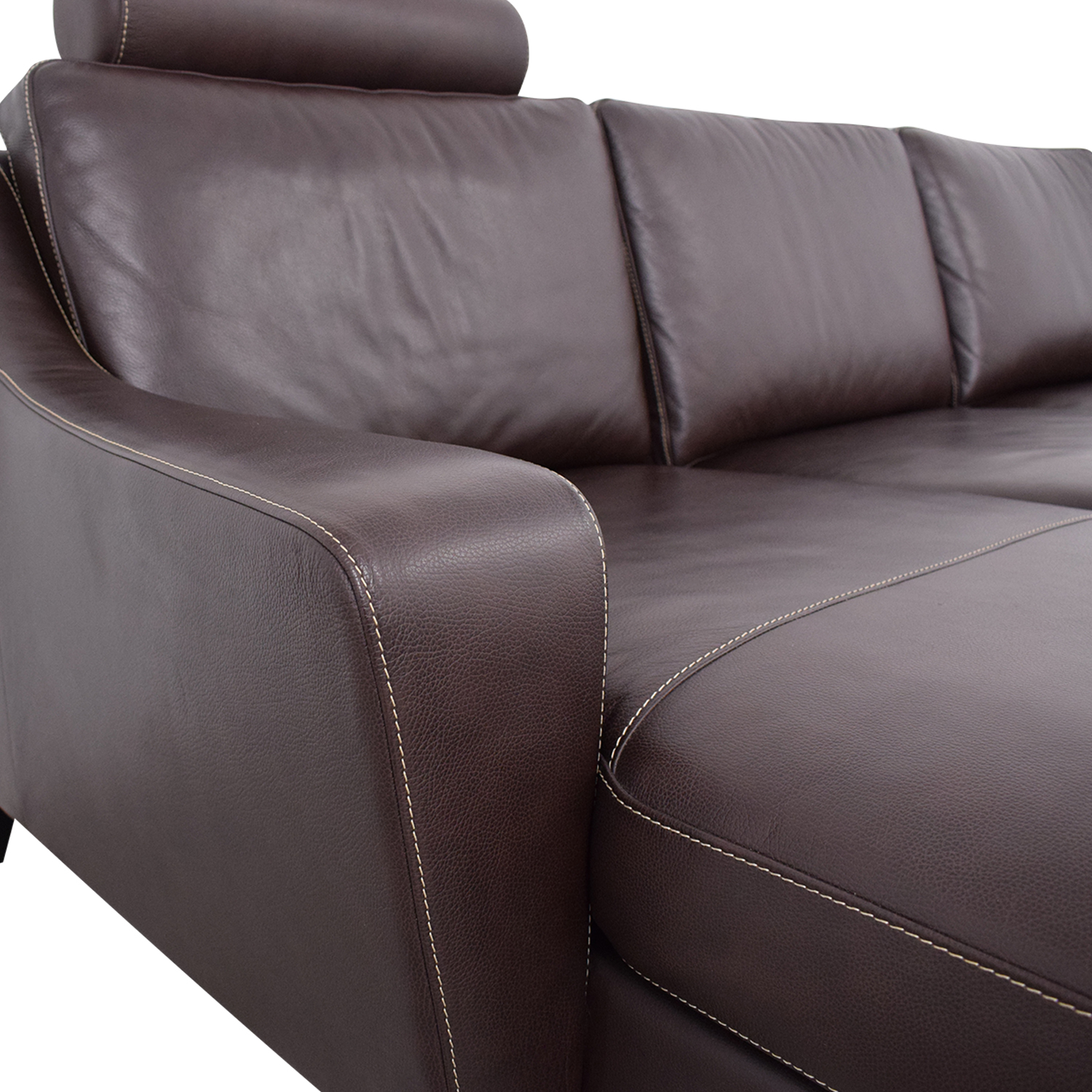 Lind Lind Chaise Sofa with Headrest and Ottoman pa