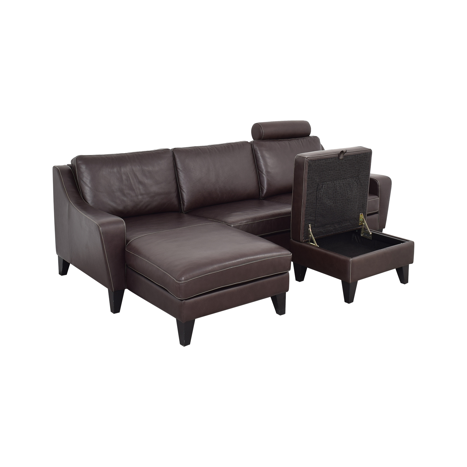 Lind Lind Chaise Sofa with Headrest and Ottoman discount