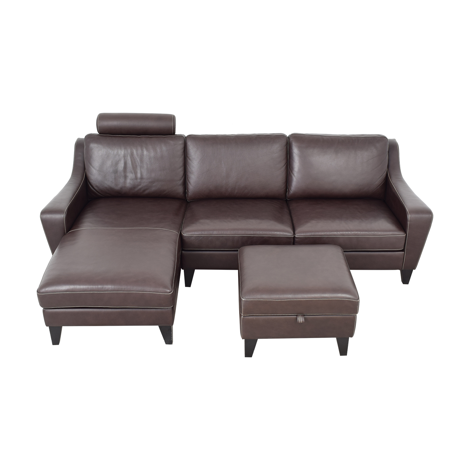 Lind Lind Chaise Sofa with Headrest and Ottoman ct