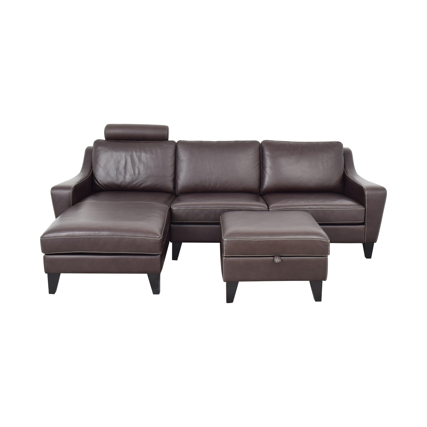 buy Lind Chaise Sofa with Headrest and Ottoman Lind Classic Sofas