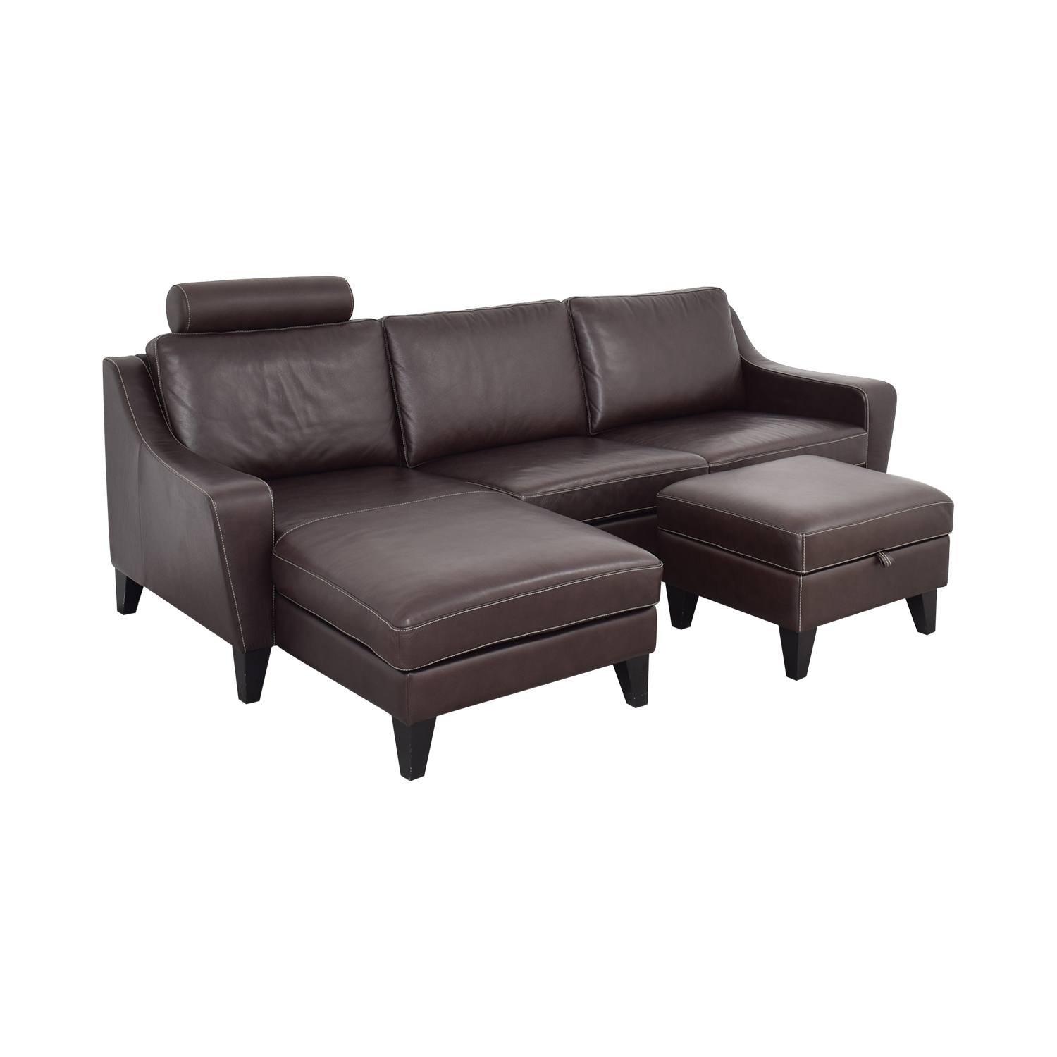 Lind Chaise Sofa with Headrest and Ottoman / Classic Sofas