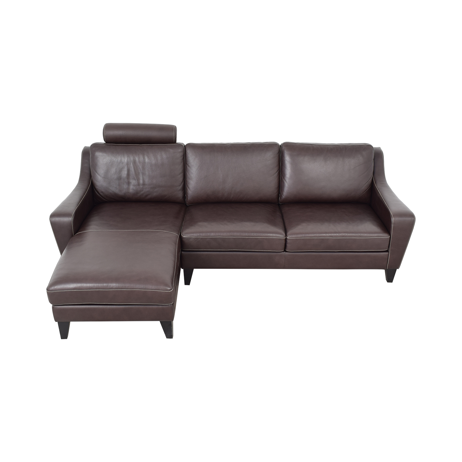 Lind Lind Chaise Sofa with Headrest and Ottoman second hand