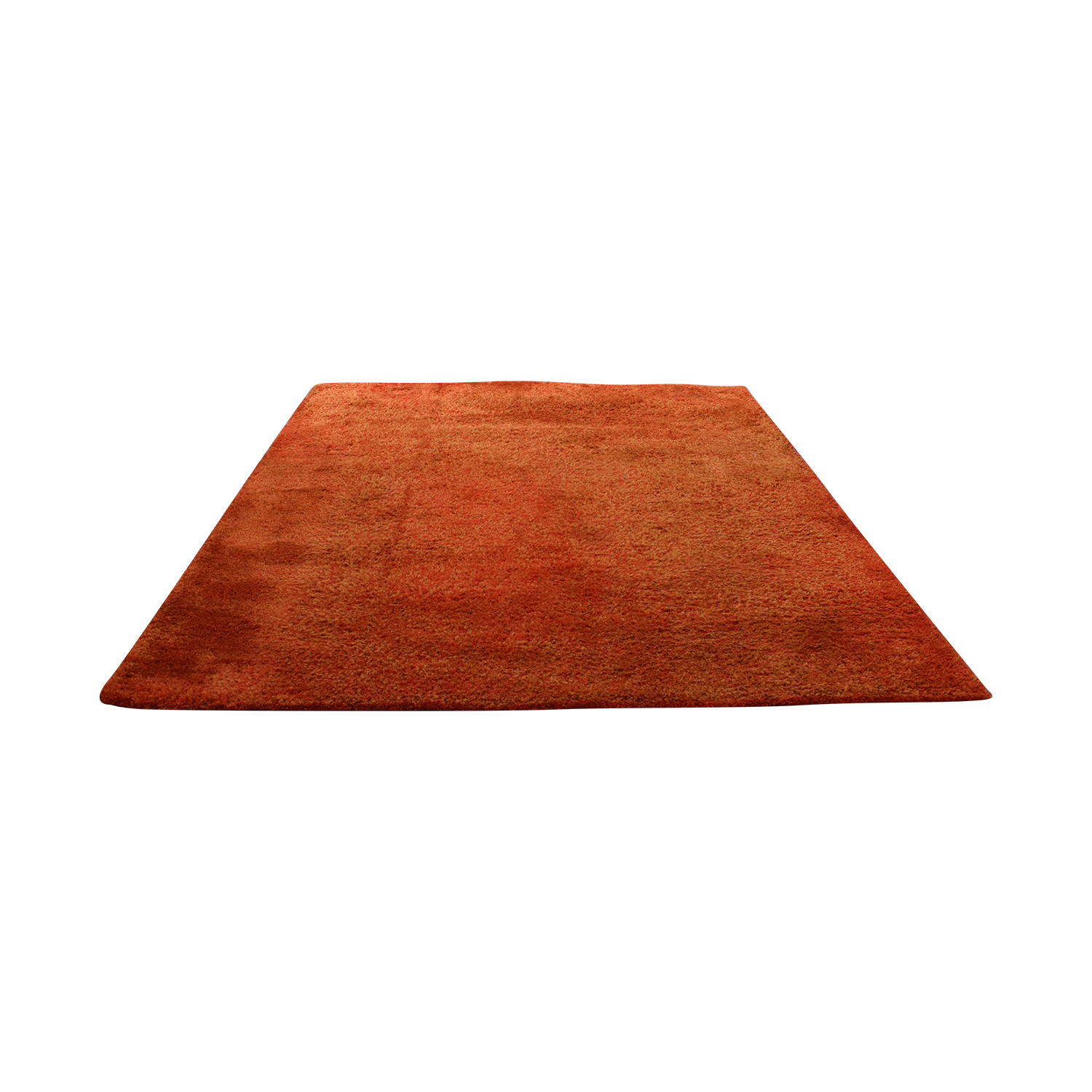 CB2 Roper Shag Orange Rug CB2