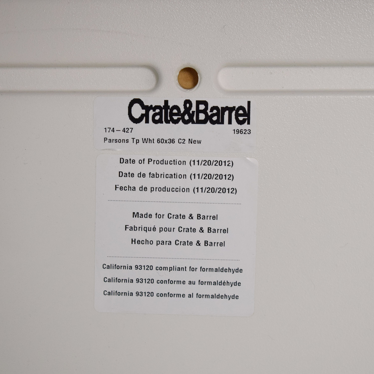 Crate & Barrel Crate & Barrel Parsons Dining Table ma