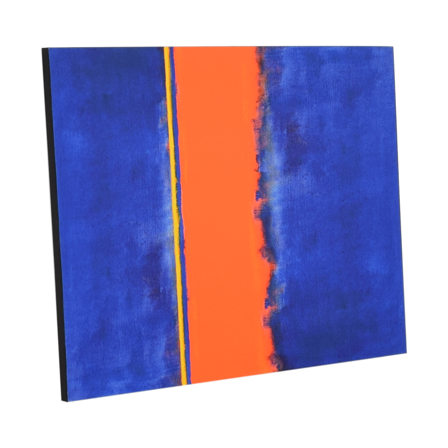 Vibrant Blue and Orange Painting on sale