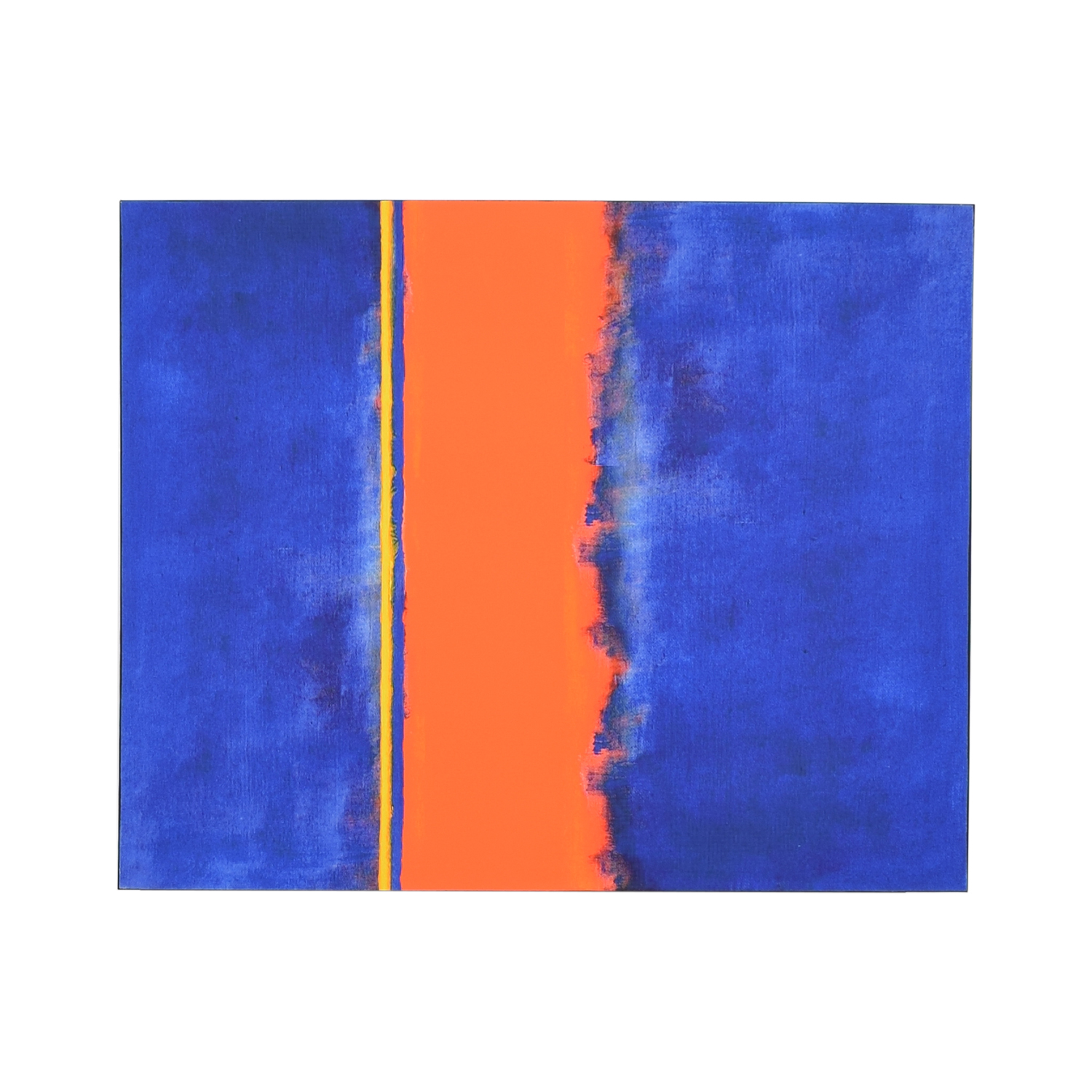 Vibrant Blue and Orange Painting / Decor