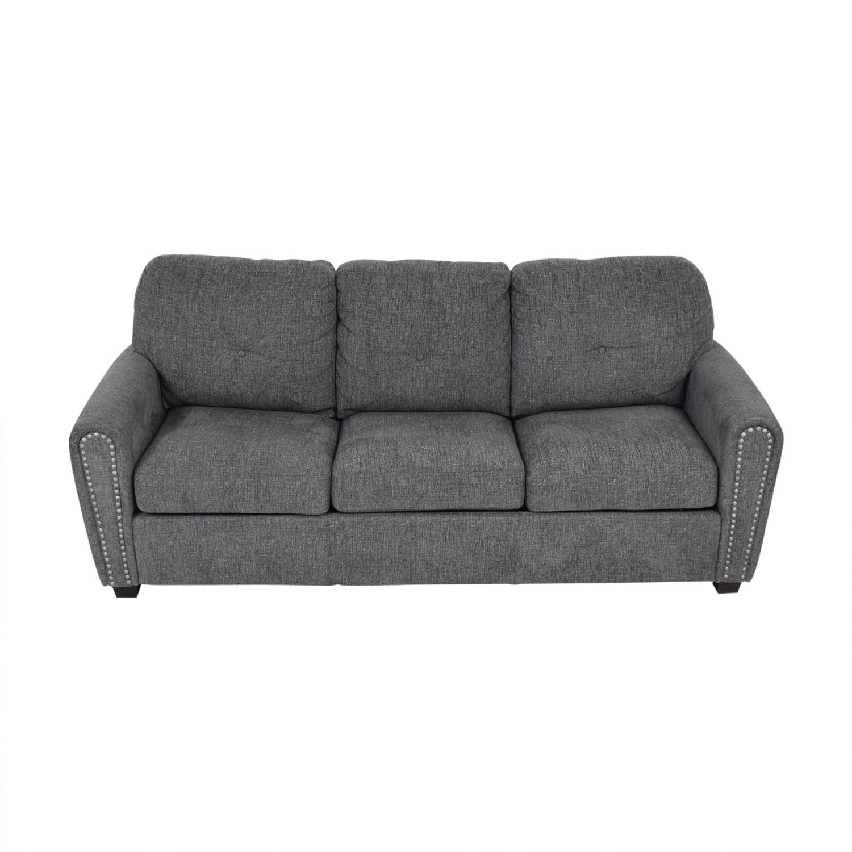 Emerald Home Furnishings Emerald Home Furnishings Sleeper Sofa dark grey