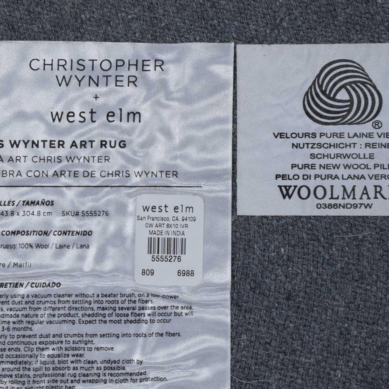 West Elm West Elm Chris Wynter Abstract Special Order Wool Rug nj