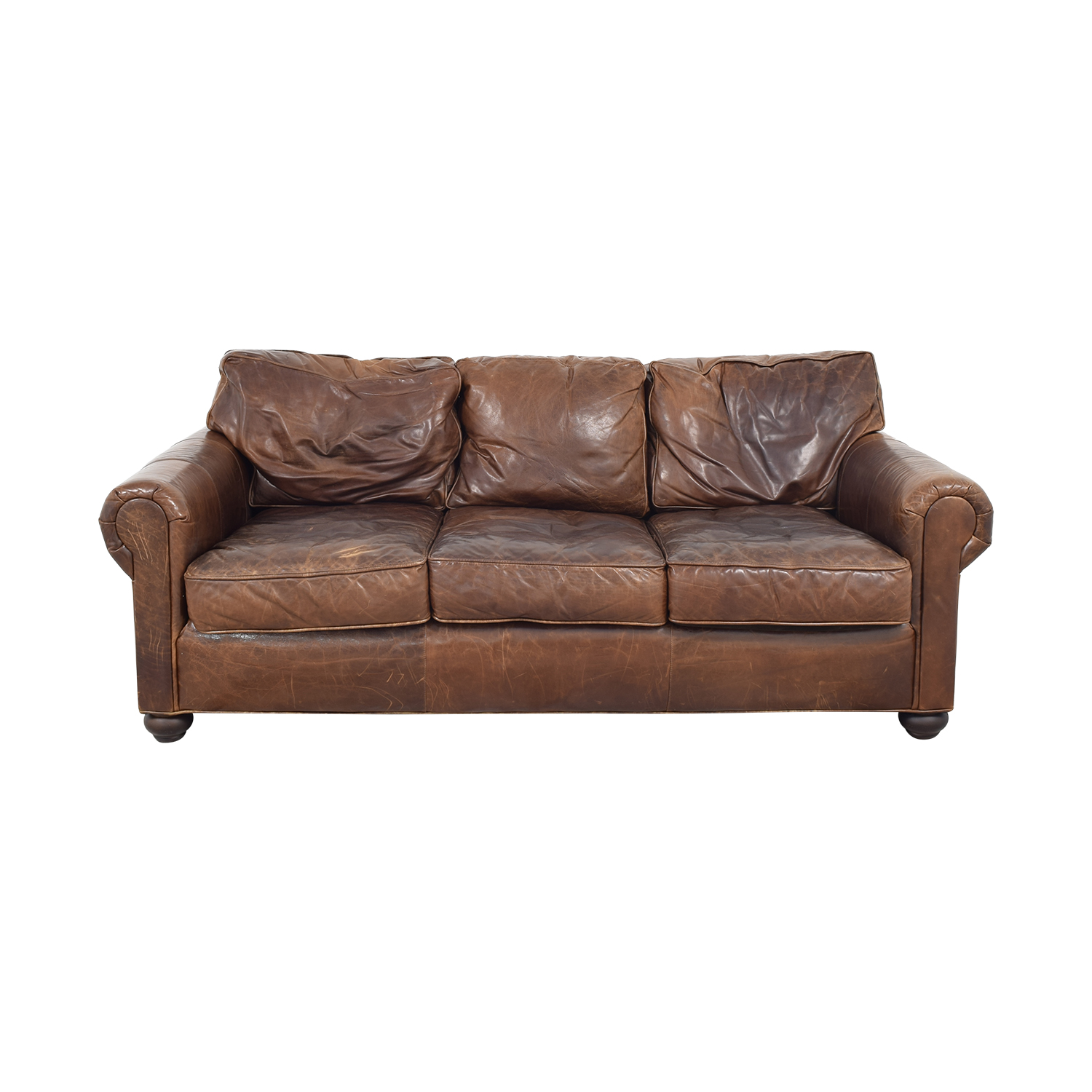 Restoration Hardware Restoration Hardware Original Lancaster Leather Sofa ct