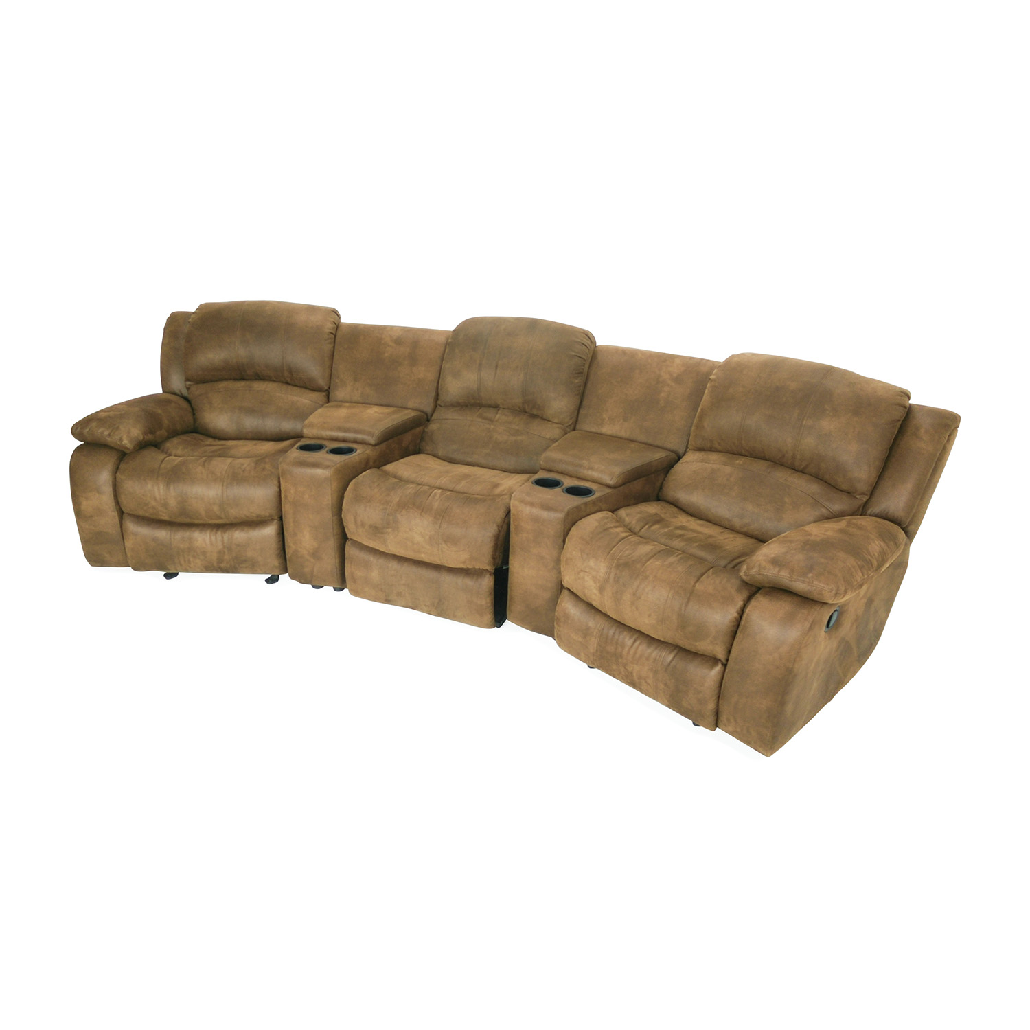 87 off raymour and flanigan raymour and flanigan theater seating couch sofas. Black Bedroom Furniture Sets. Home Design Ideas