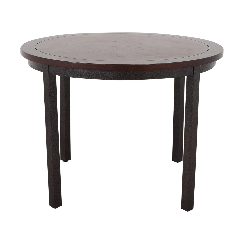 shop Carbon Loft Evans Round Dining Table Carbon Loft Dinner Tables