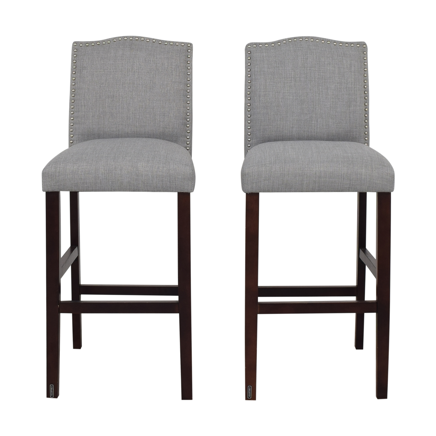 Skyline Furniture Nail Button Camel Back Bar Stools Chairs