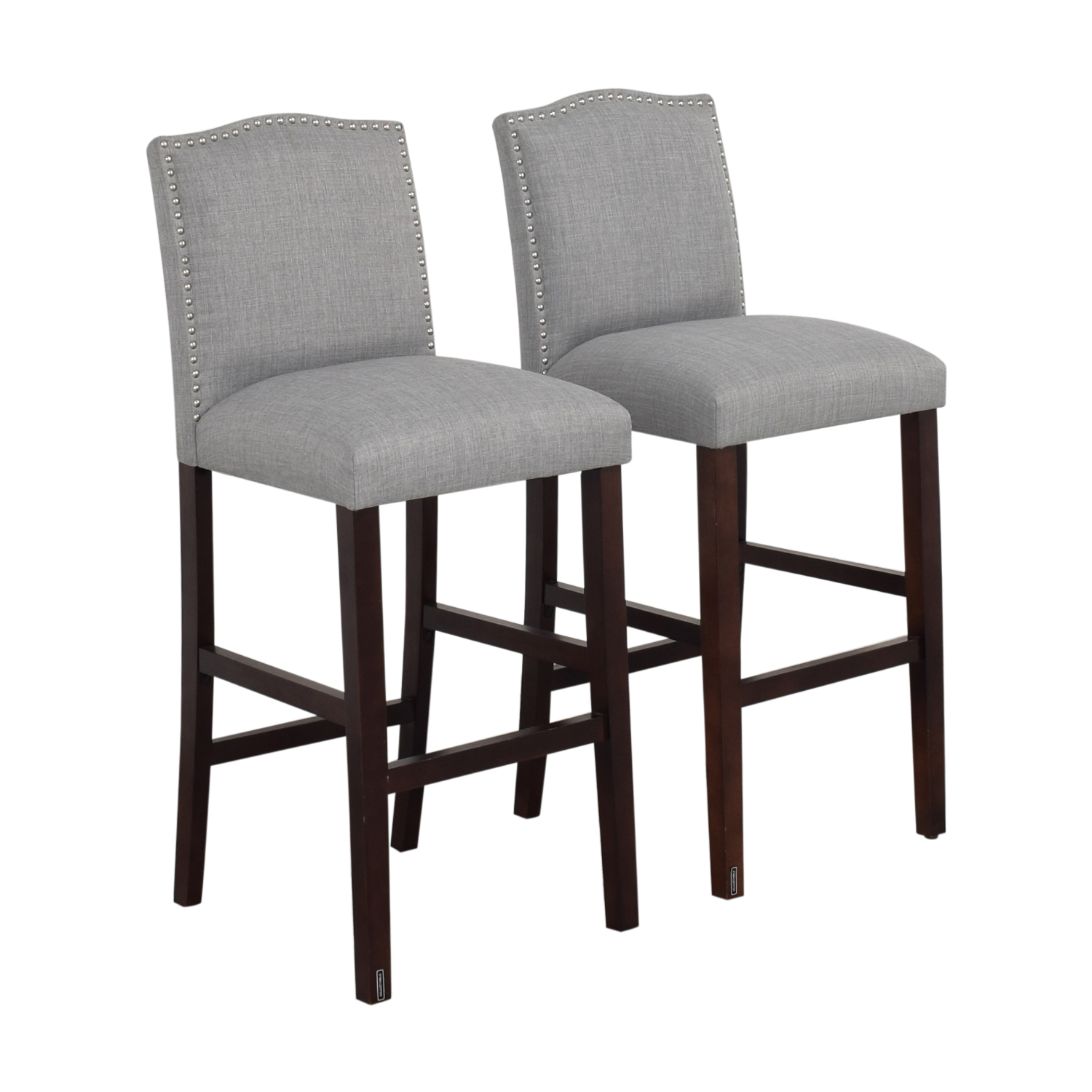buy Nail Button Camel Back Bar Stools Skyline Furniture Chairs