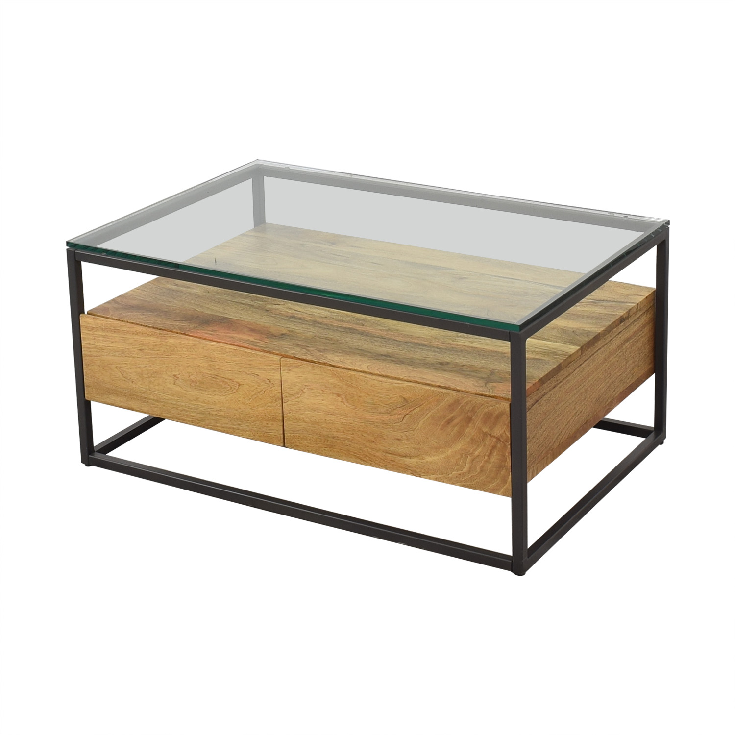 45 Off West Elm West Elm Box Frame Storage Coffee Table Tables