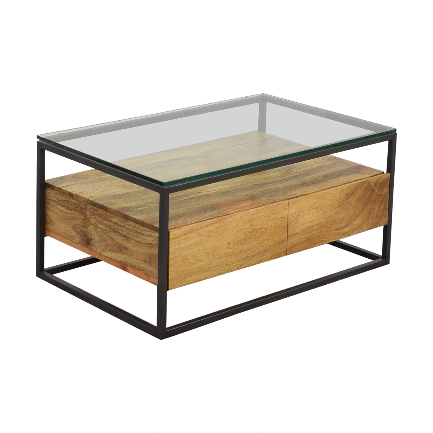 22 Off West Elm Box Frame Storage Coffee Table Tables