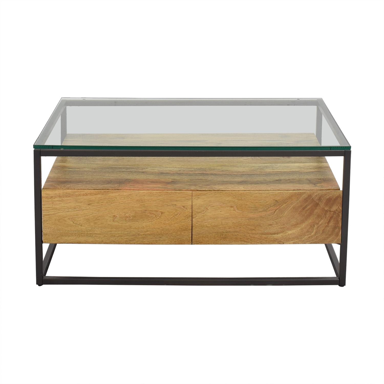West Elm West Elm Box Frame Storage Coffee Table dimensions