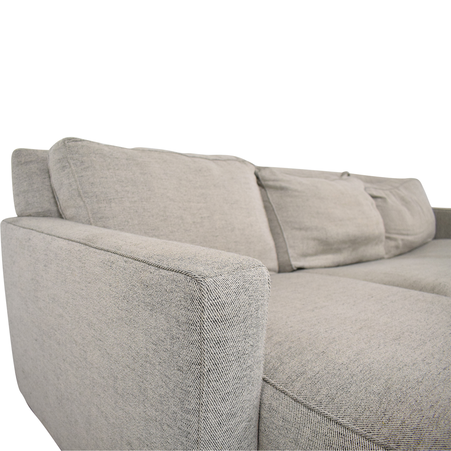 West Elm Henry 2-Piece Full Sleeper Sectional with Storage West Elm