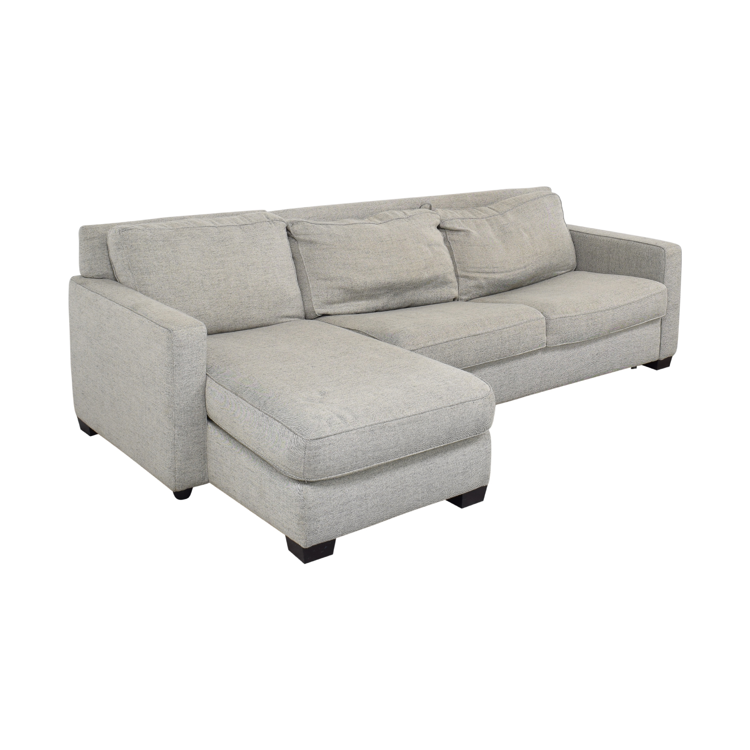 West Elm West Elm Henry 2-Piece Full Sleeper Sectional with Storage discount