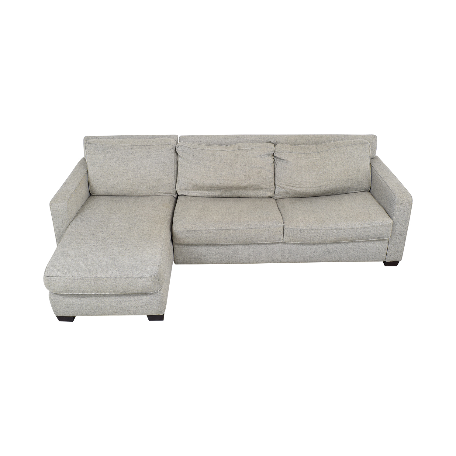 West Elm West Elm Henry 2-Piece Full Sleeper Sectional with Storage grey