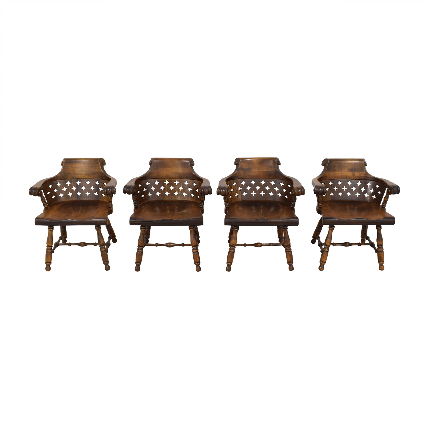 Ethan Allen Patterned Cutout Dining Chairs sale
