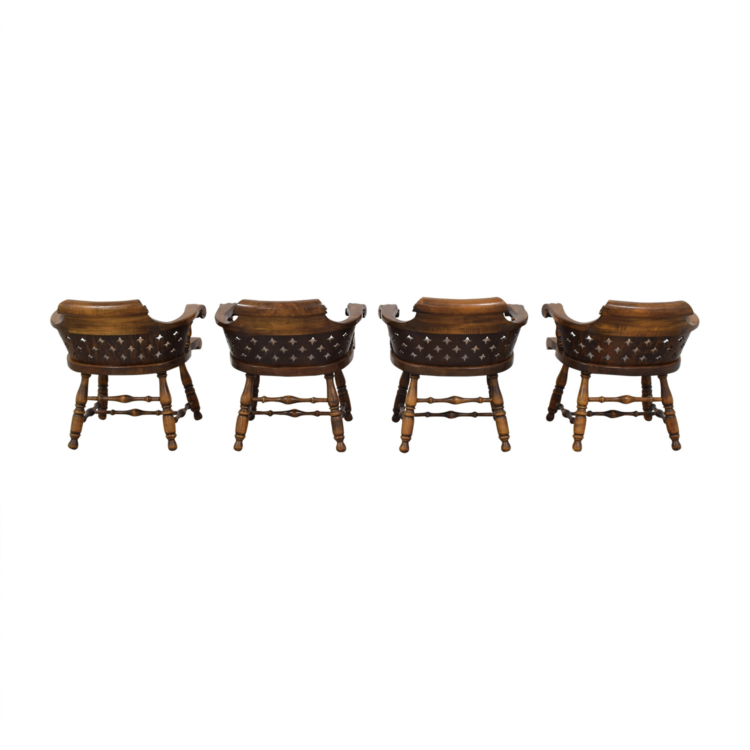 buy Ethan Allen Ethan Allen Patterned Cutout Dining Chairs online