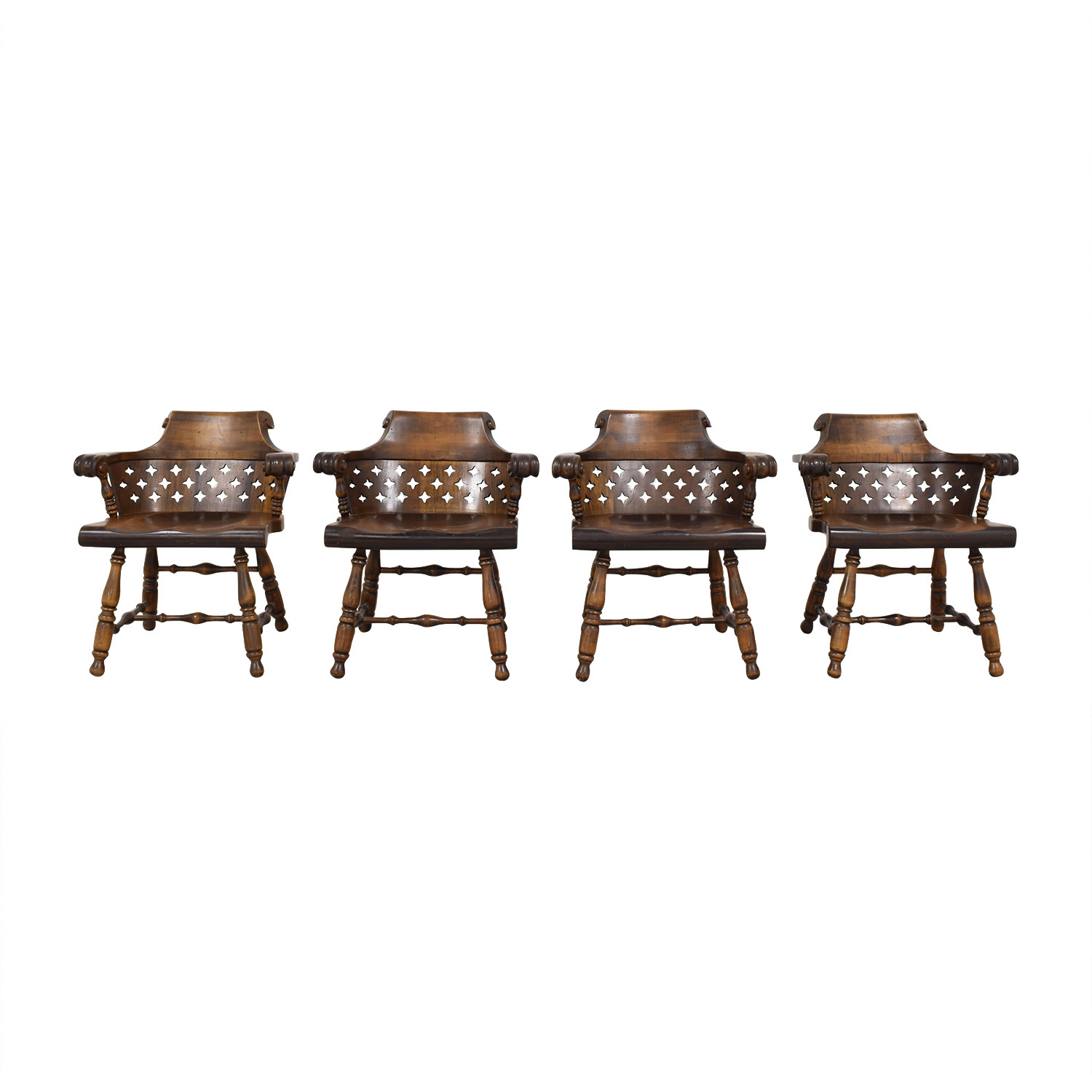 Ethan Allen Ethan Allen Patterned Cutout Dining Chairs Chairs