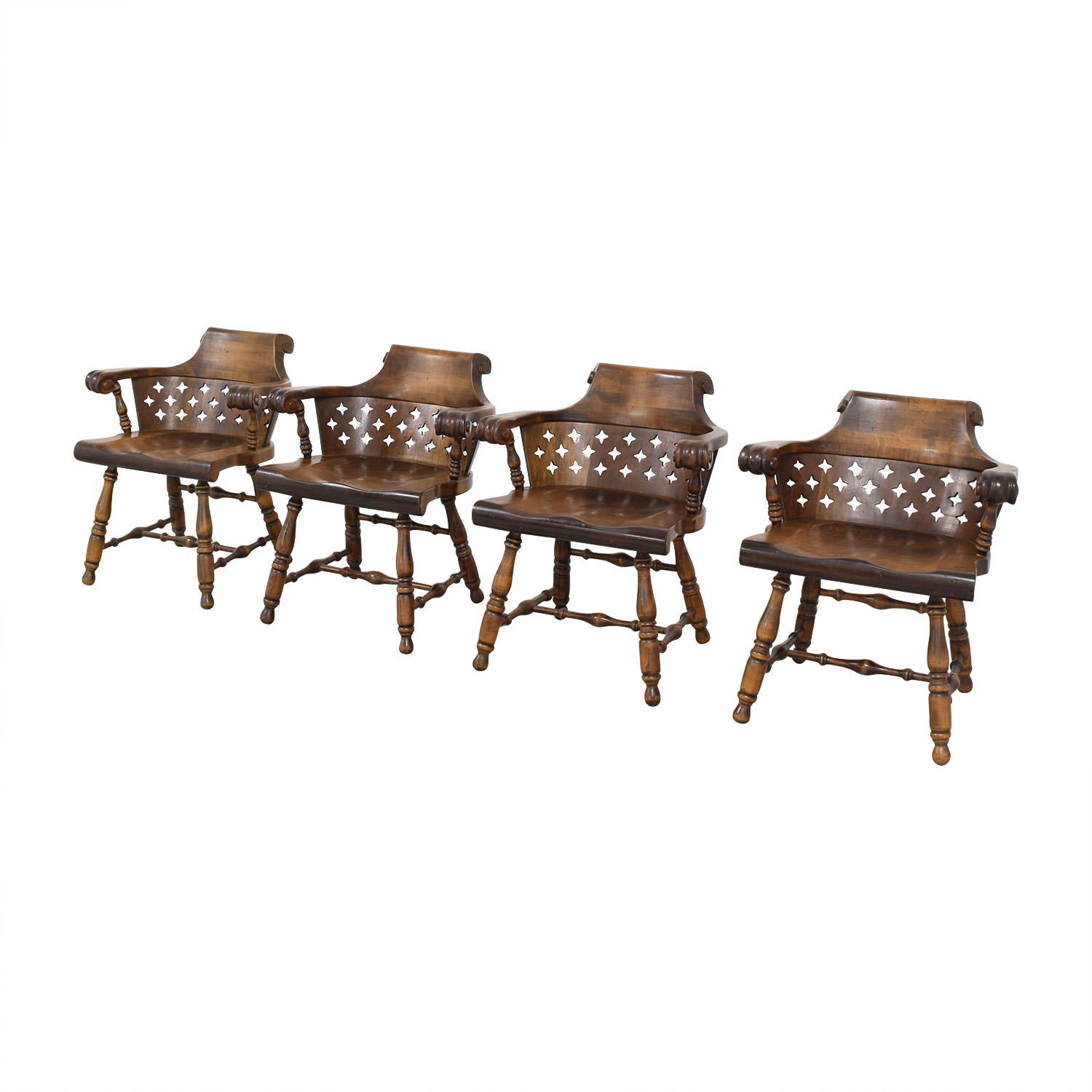 Ethan Allen Ethan Allen Patterned Cutout Dining Chairs ct