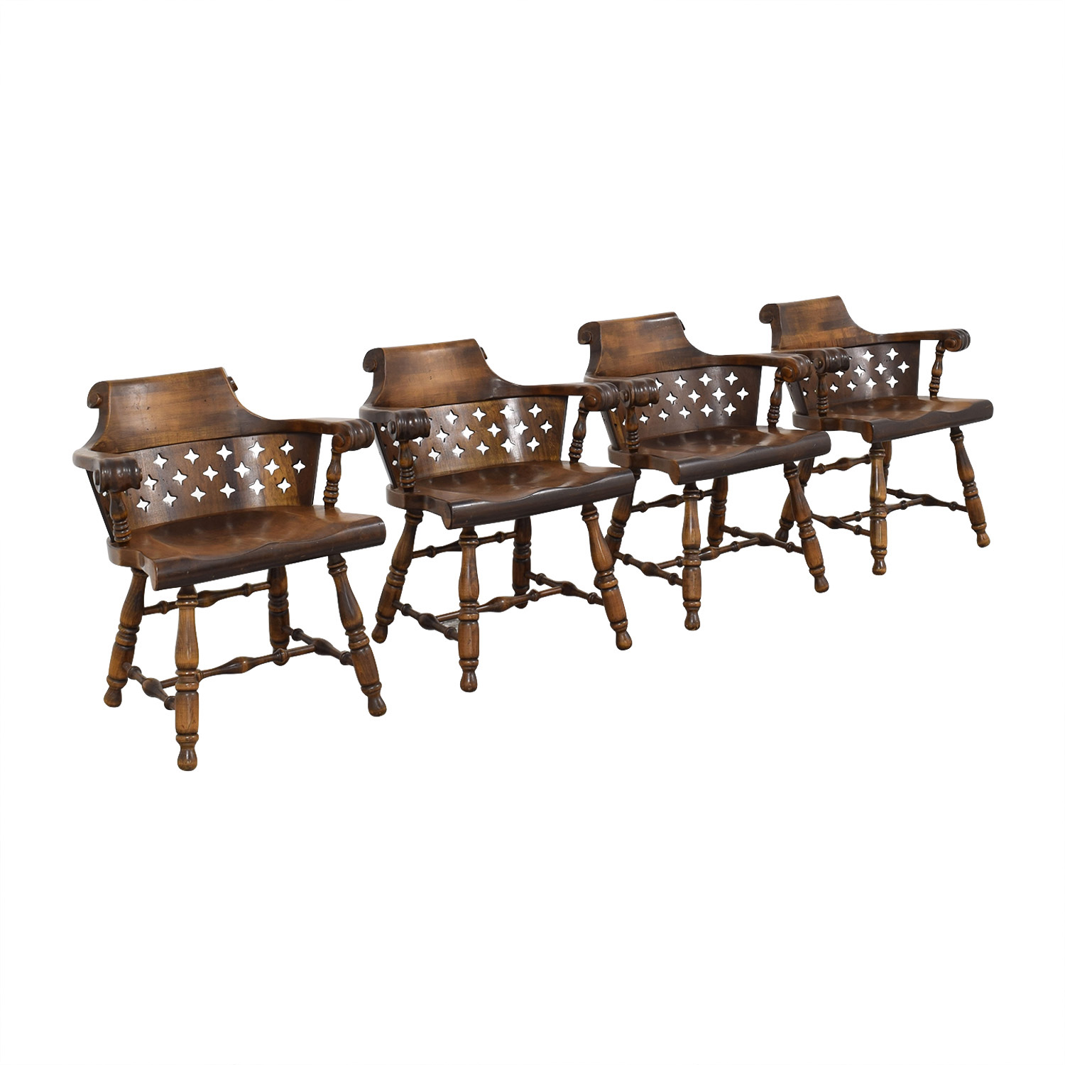 Ethan Allen Ethan Allen Patterned Cutout Dining Chairs discount