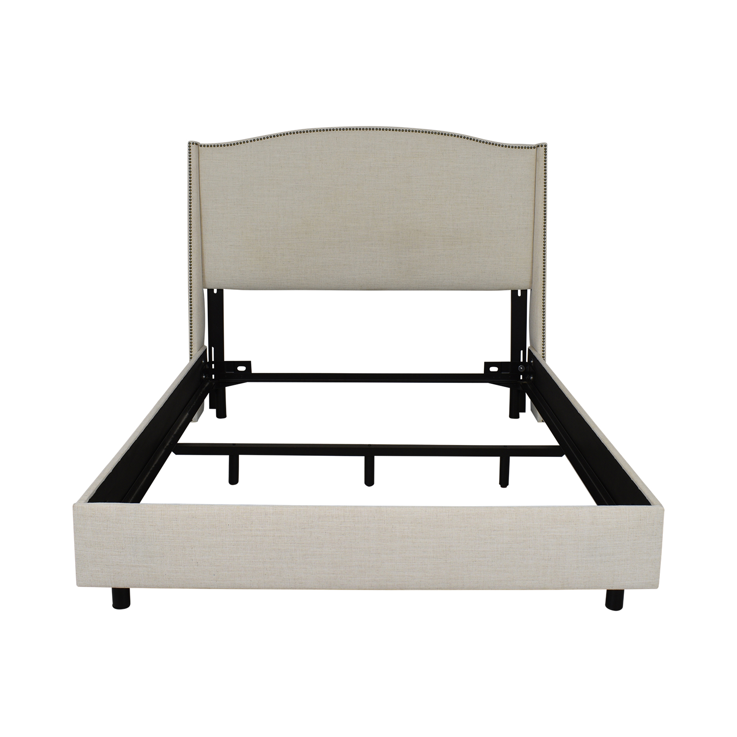 One Kings Lane Cole Wingback Queen Bed / Bed Frames