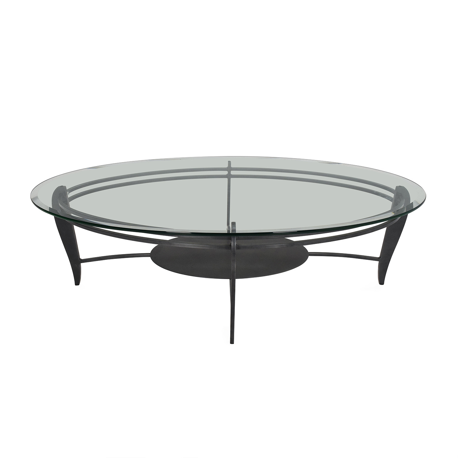 CB2 CB2 Glass Coffee Table used