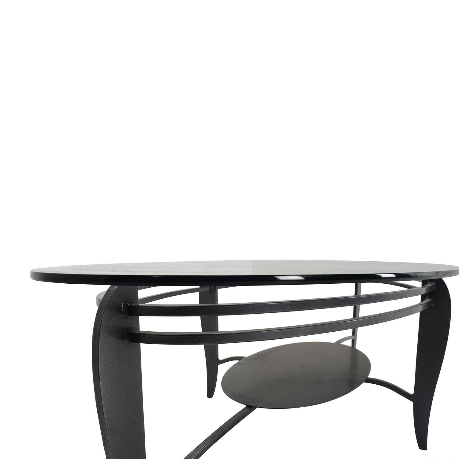 84% OFF CB2 CB2 Glass Coffee Table Tables