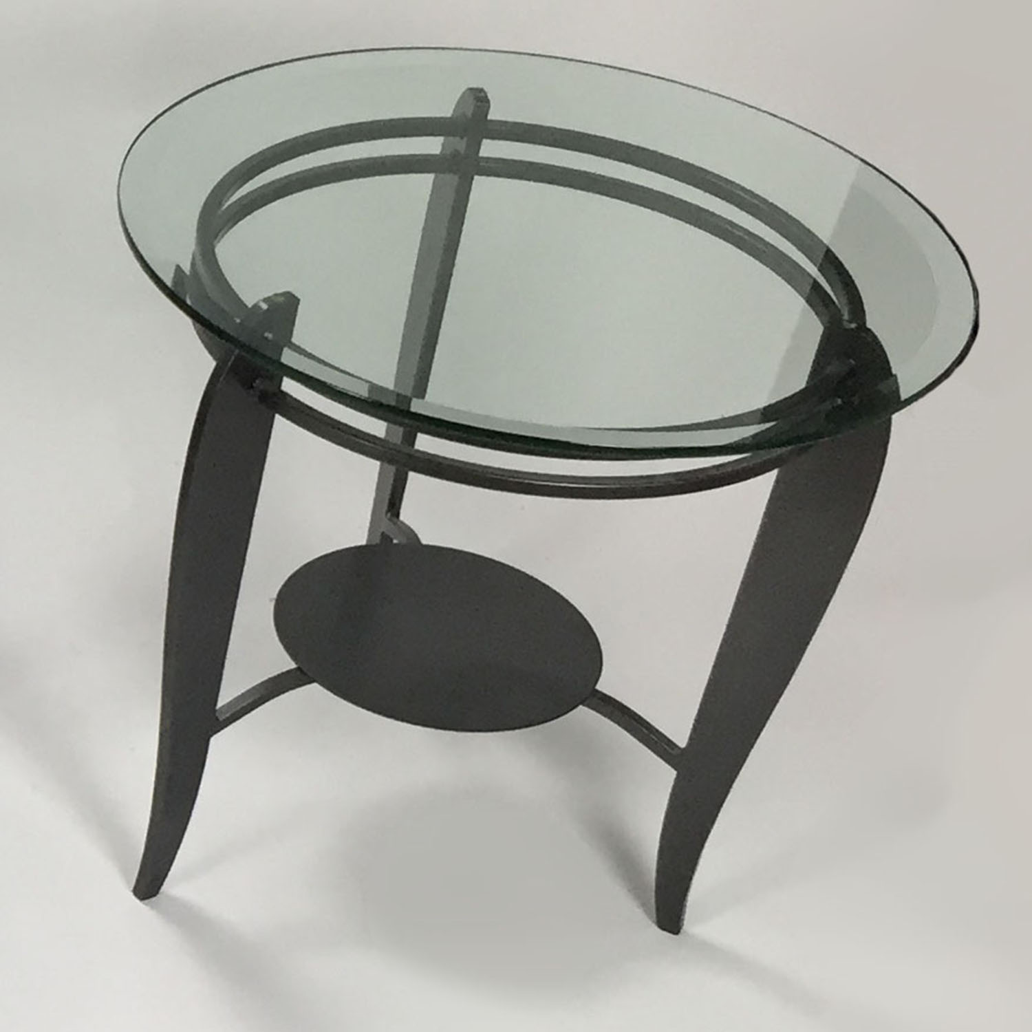 CB2 Glass Side Table / Tables