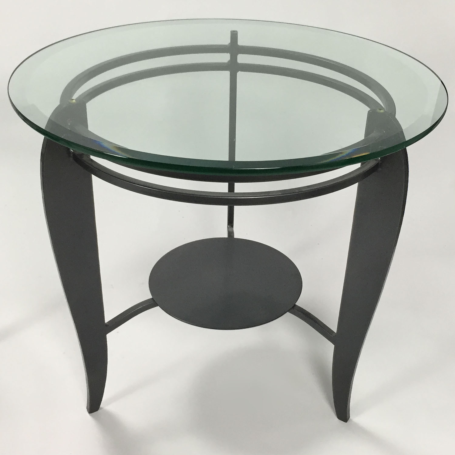 CB2 CB2 Glass Side Table nj