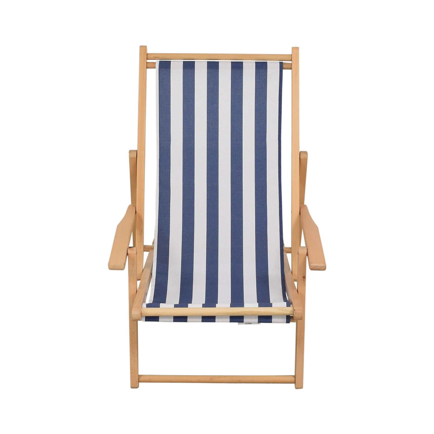 The Inside The Inside Cabana Chair with Sling blue white and light brown