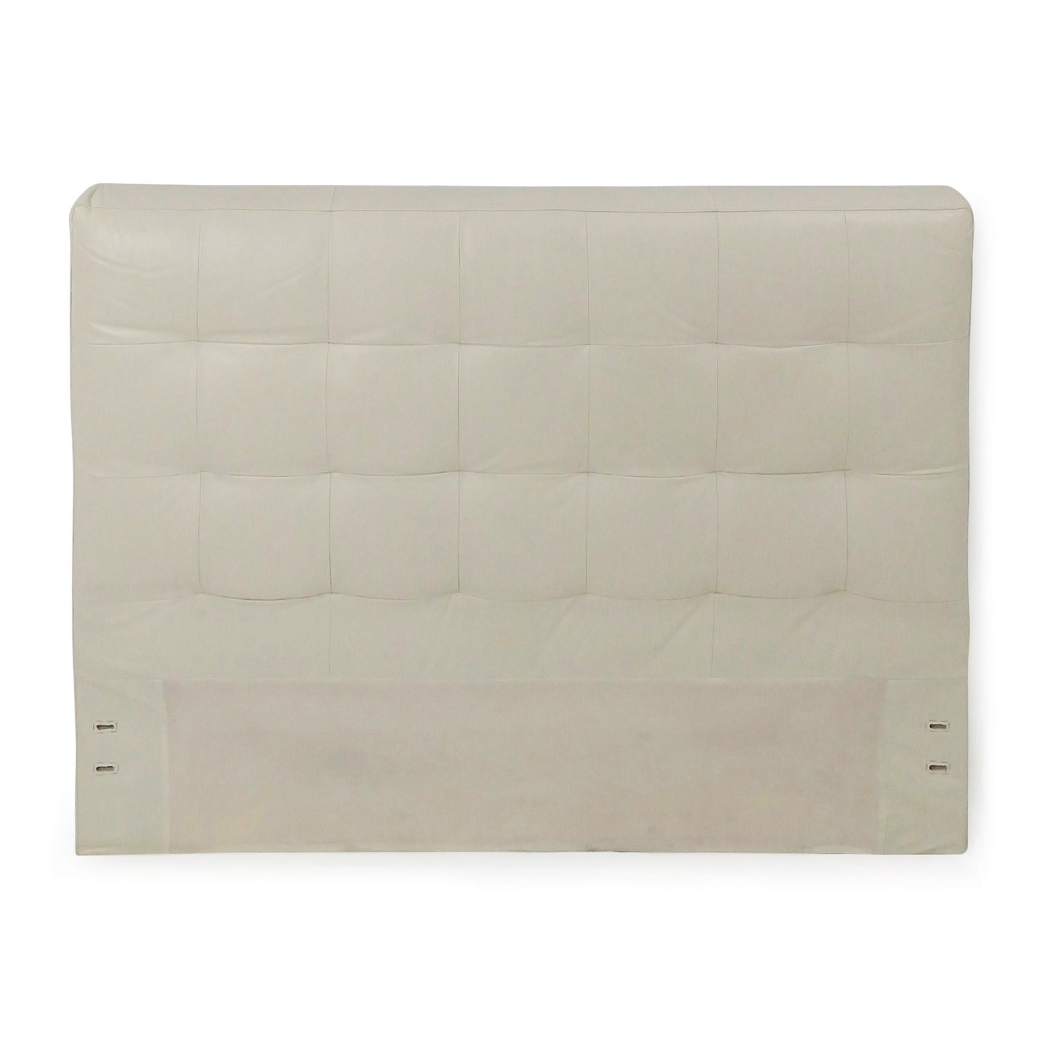buy West Elm Tufted Leather Headboard - Full West Elm