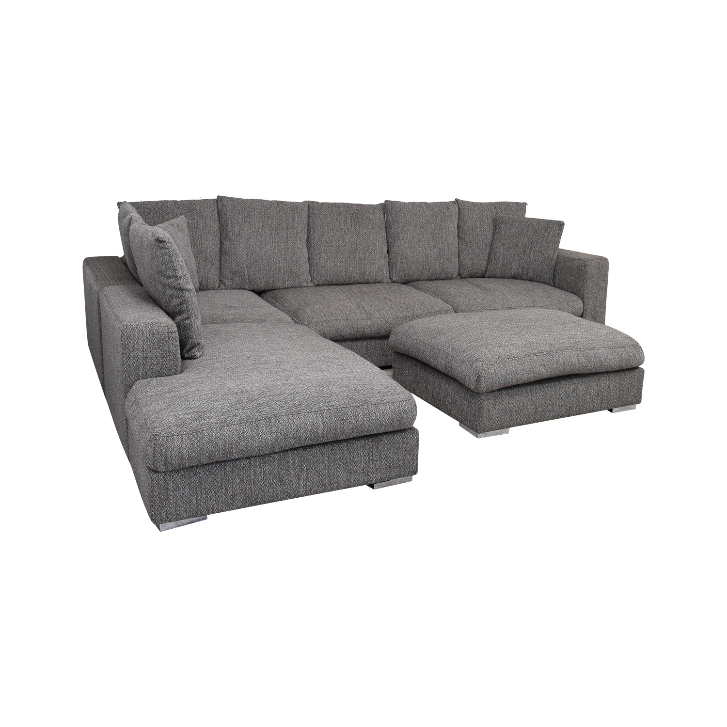shop BoConcept L-Shaped Modular Sofa with Ottoman BoConcept Sofas