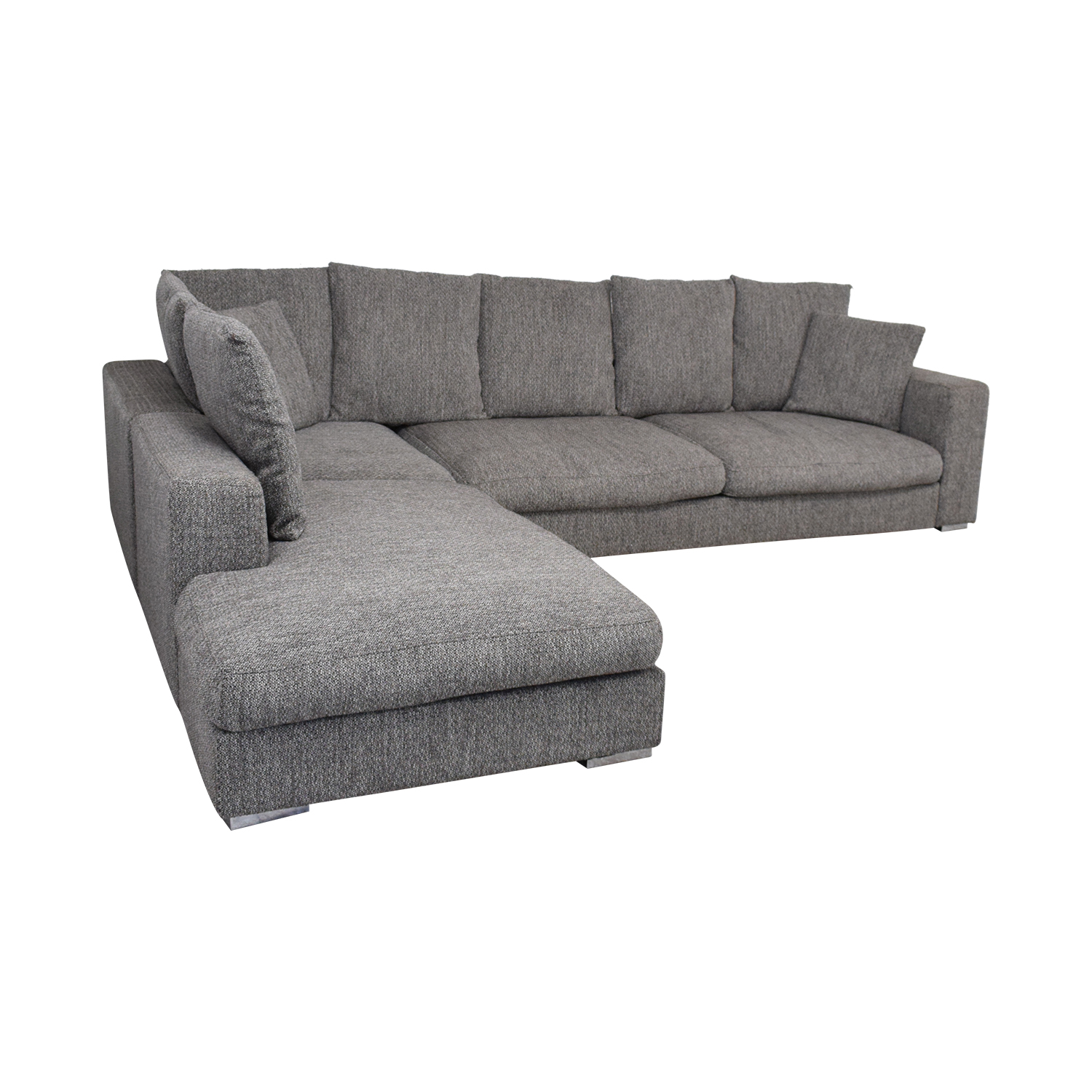 BoConcept L-Shaped Modular Sofa with Ottoman / Sectionals