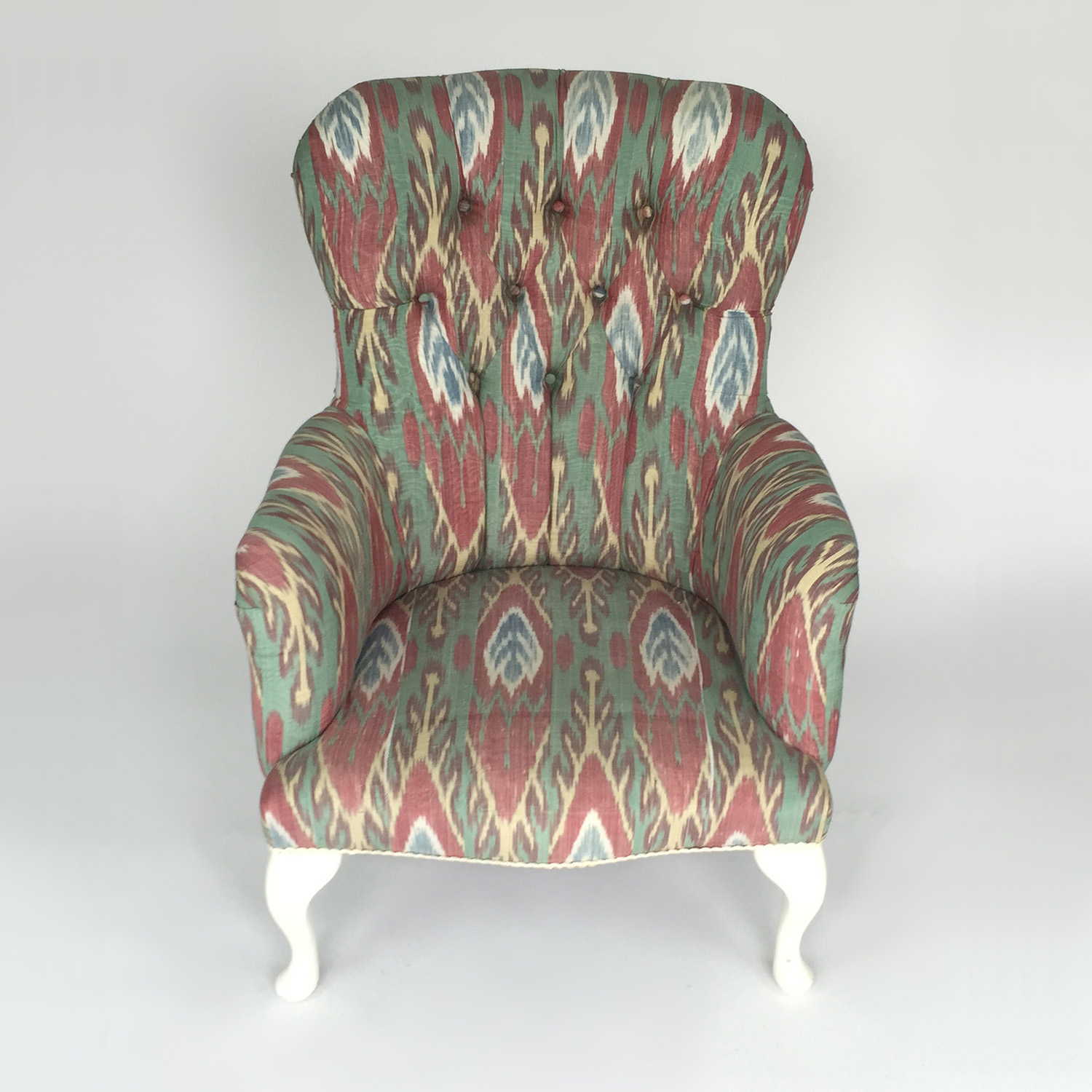 Custom Uzbeki Ikat Silk Print Custom Chair dimensions