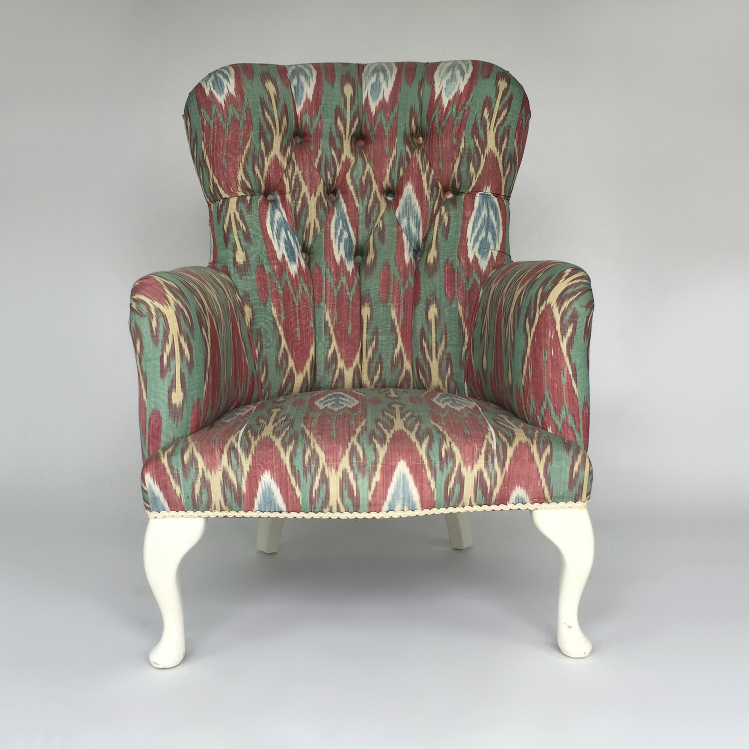 Custom Uzbeki Ikat Silk Print Custom Chair on sale