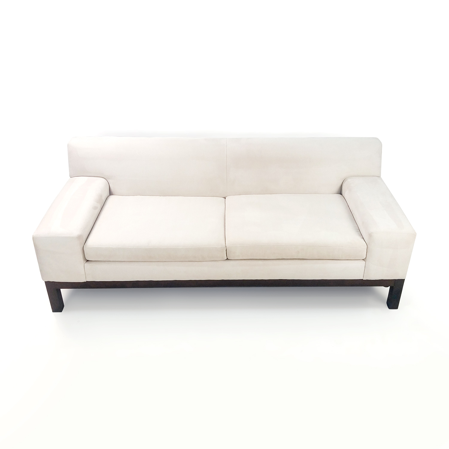 West Elm White Lorimer Couch sale