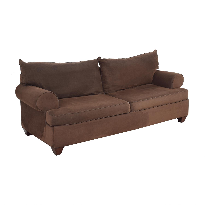 Classic Round Arm Two Cushion Sofa