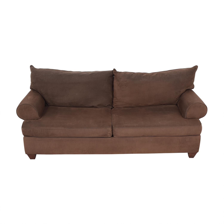 Classic Round Arm Two Cushion Sofa dimensions