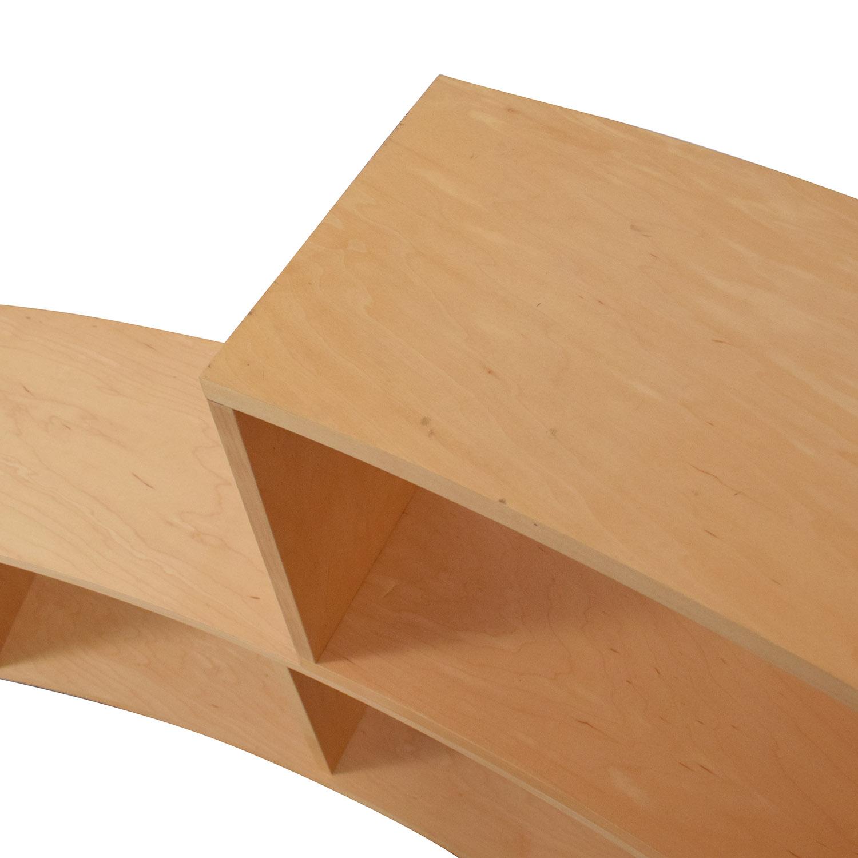 Jensen-Lewis Jensen- Lewis Curved Modular Bookcase brown