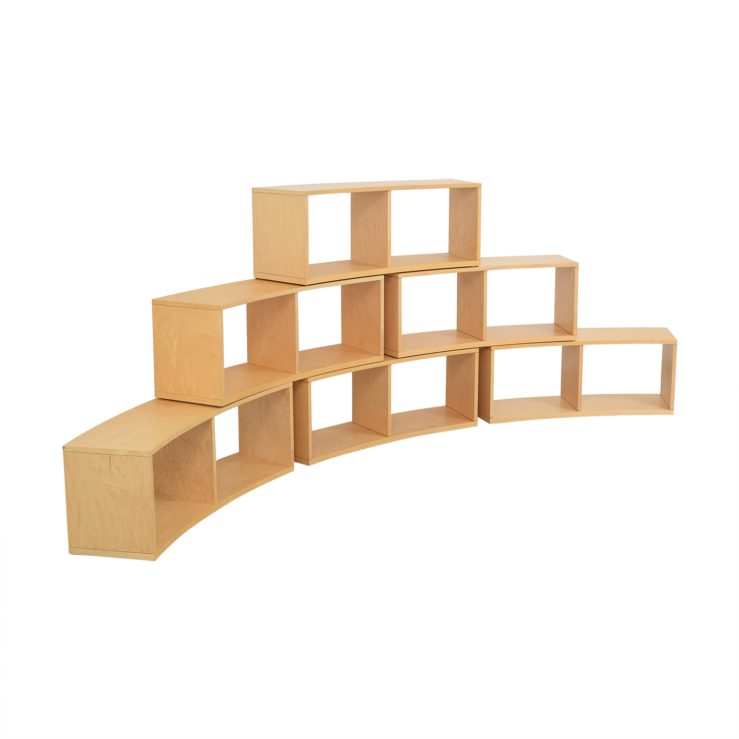 Jensen- Lewis Curved Modular Bookcase / Bookcases & Shelving